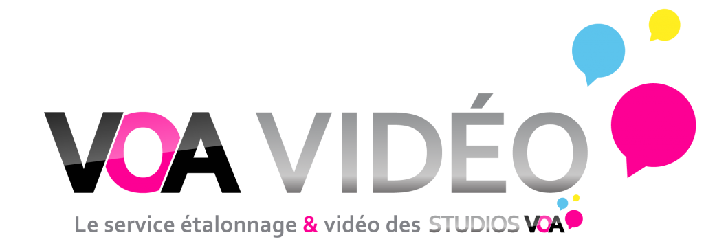 Logo VOA Vidéo, le service de post production vidéo des Studios VOA