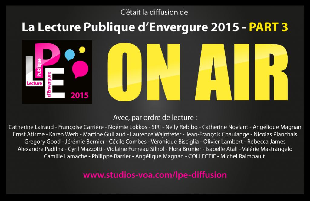 LPE 2015 - PARTIE 3 - STUDIOS VOA