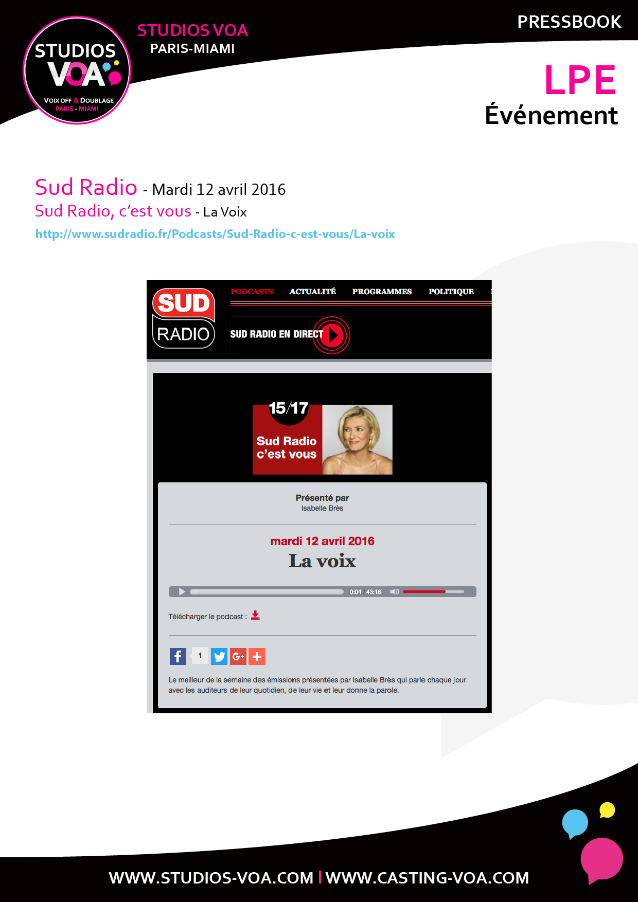 Pressbook-VOA_160509_LPE-Sud-Radio