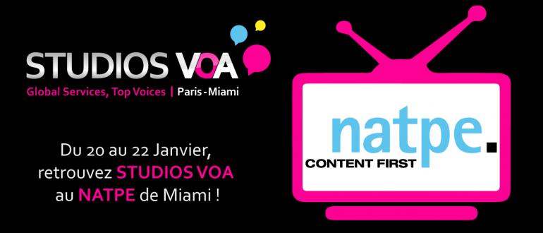 STUDIOS VOA au NATPE Miami 2015