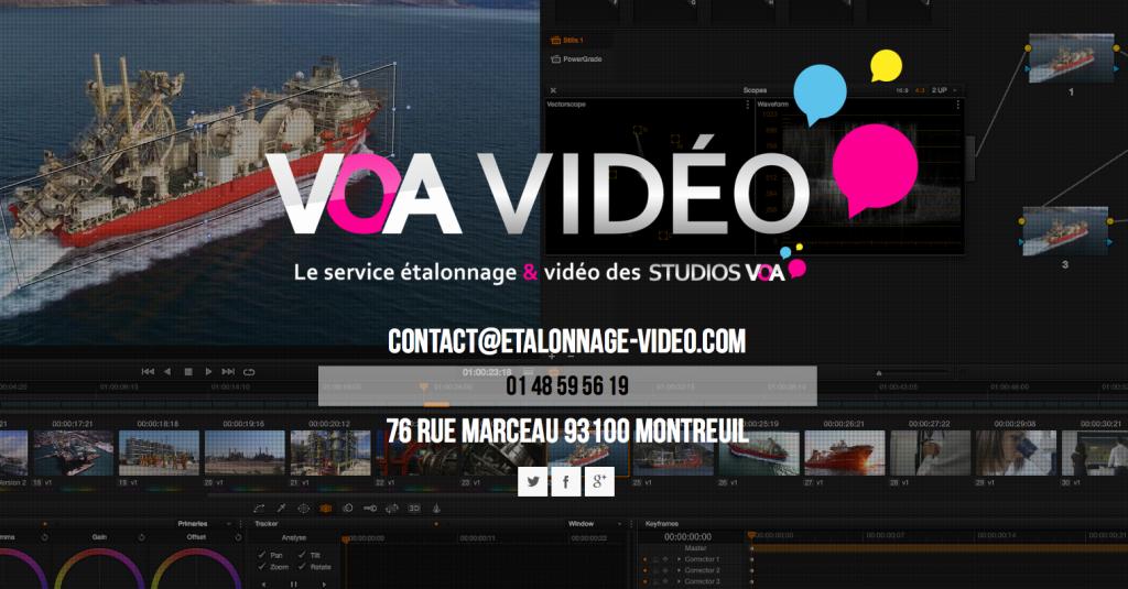 VOA Video, le service de post-production vidéo de Studios VOA