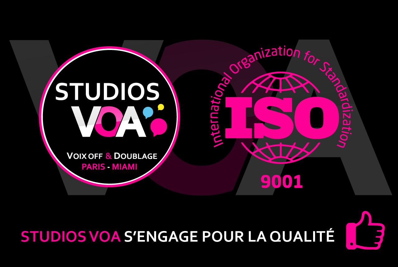 Norme ISO 9001 - STUDIOS VOA s'engage pour la qualité