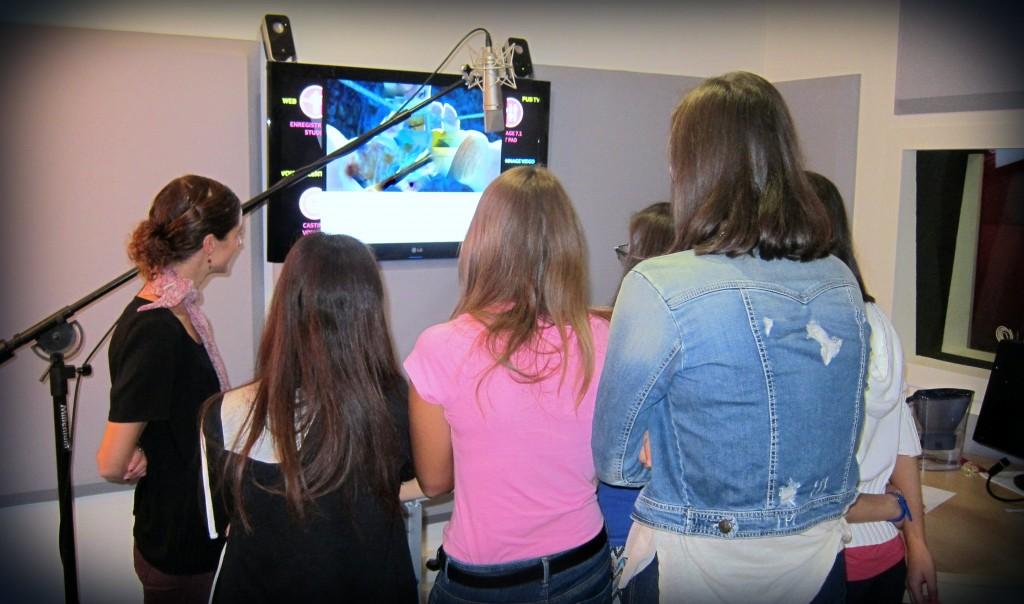 Atelier Doublage - élèves italiens - STUDIOS VOA
