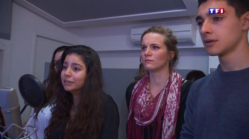 Studios VOA au JT de TF1 pour la Journée Nationale des Jeunes