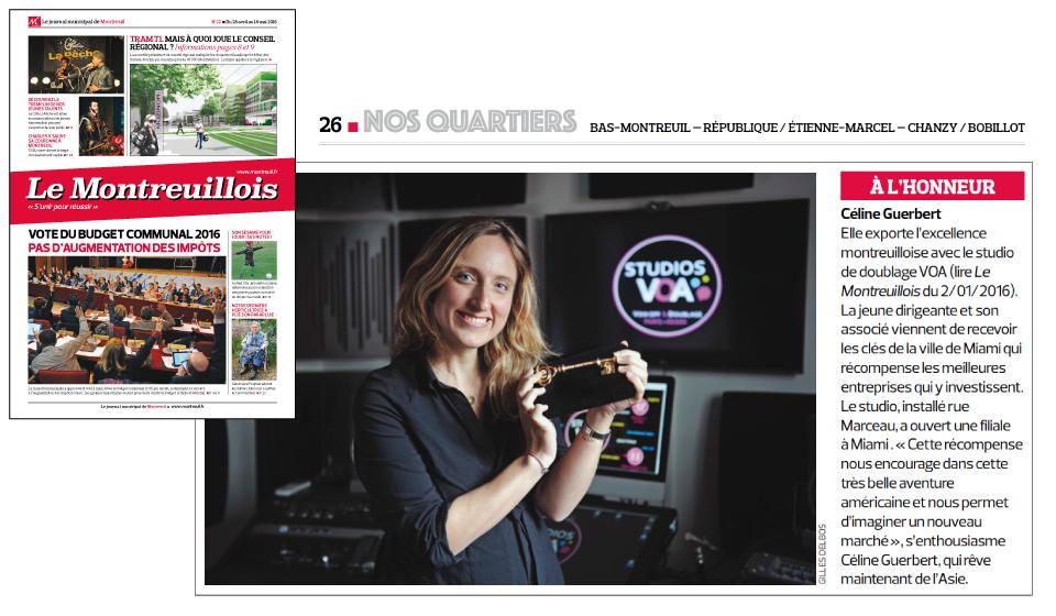 Céline Guerbert Studios VOA - Entrepreneuse de la France aux Etats-Unis