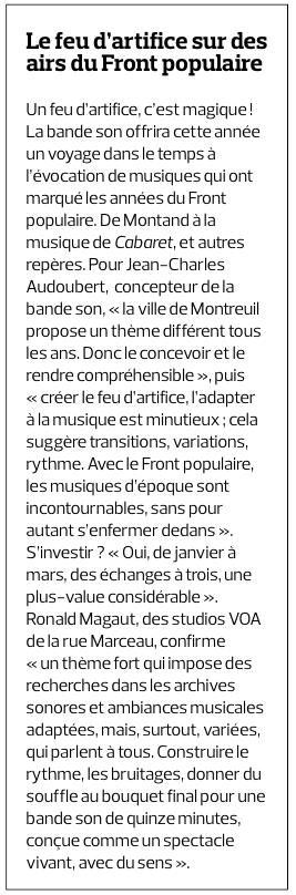 Article STUDIOS VOA Bande Son Feu d'Artifice 2016_Le montreuillois
