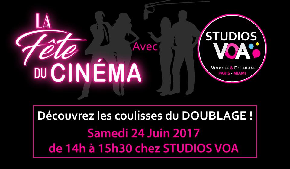 La Fête du Cinéma - Atelier Doublage - STUDIOS VOA